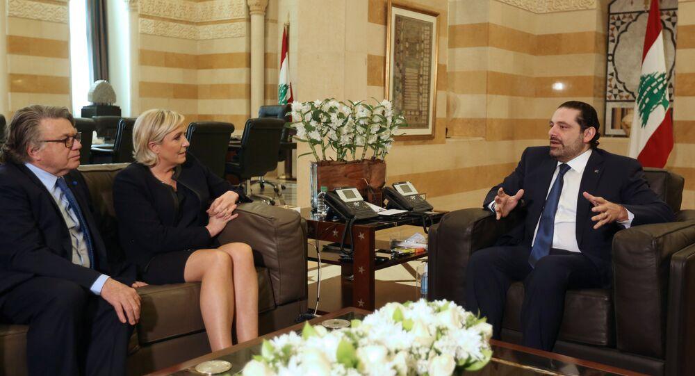 Saad Hariri - Marine Le Pen