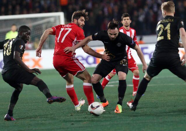 Osmanlıspor-Olimpiyakos maçından bir kare