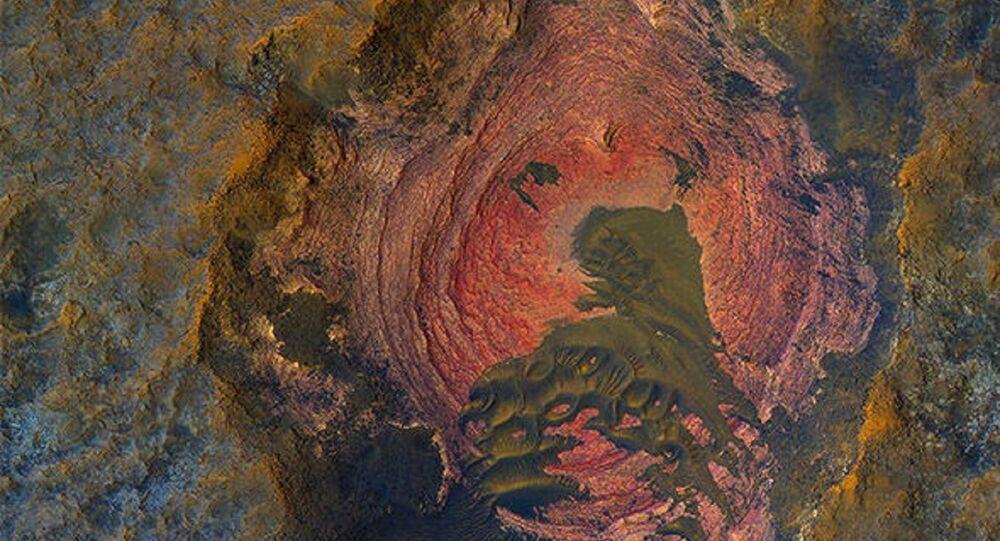 NASA, Mars'ın 'Gammaz Yüreği'ni paylaştı