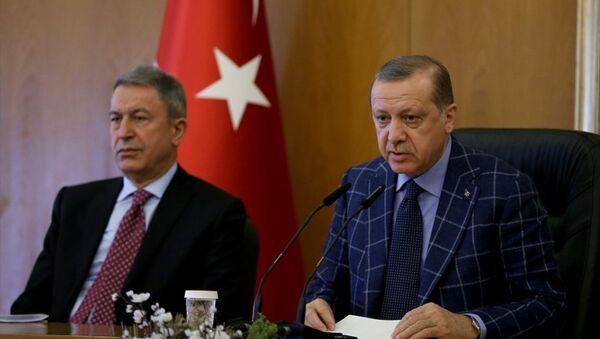 Recep Tayyip Erdoğan - Hulusi Akar - Sputnik Türkiye