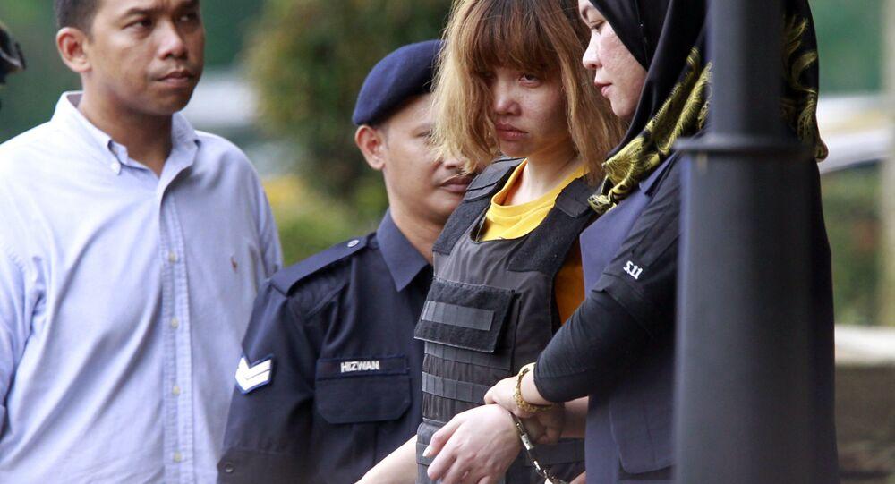 Kim Jong nam suikasti şüphelisi Vietnamlı Doan Thi Huong mahkemeden ayrılırken