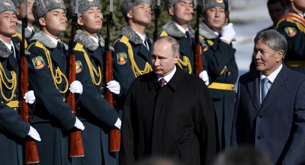 Rusya Devlet Başkanı Vladimir Putin ve Kırgız mevkidaşı Almazbek Atambayev