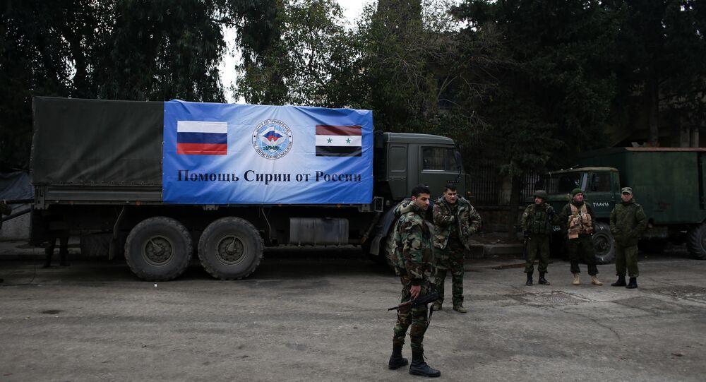 Rusya'nın Suriye'deki insani yardımları