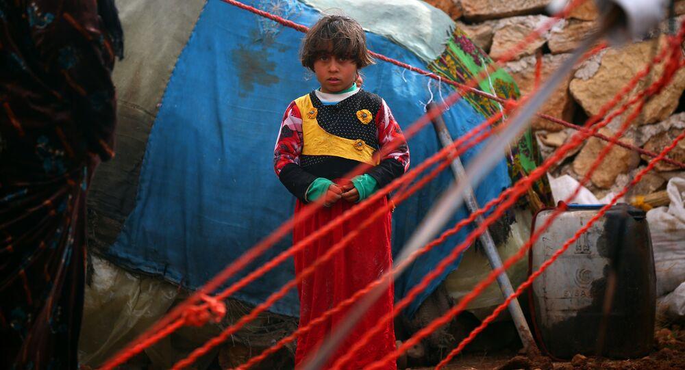 Suriye'de bir sığınmacı çocuk