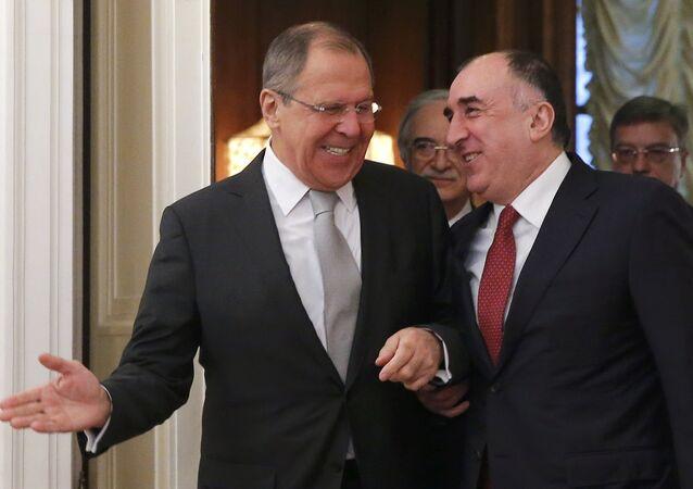 Rusya Dışişleri Bakanı Sergey Lavrov ve  Azeri mevkidaşı Elmar Memmedyarov