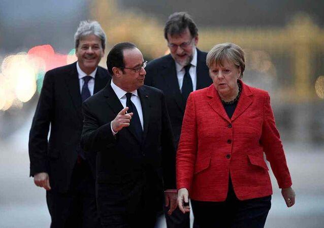 François Hollande, Angela Merkel, Mariano Rajoy, Paolo Gentiloni