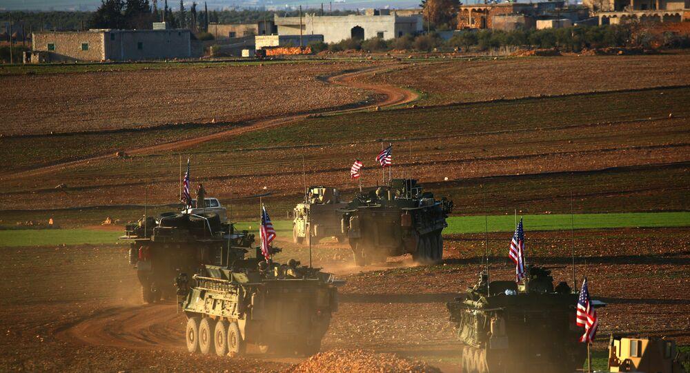 Menbiç'te konuşlanan ABD birlikleri