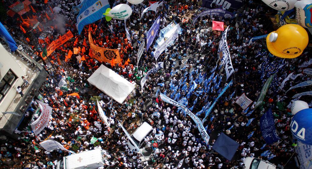 Arjantin'de Macri protestosu