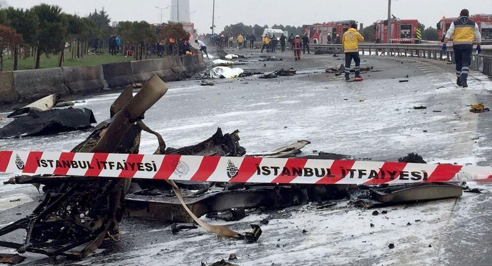 Büyükçekmece'de helikopter düştü