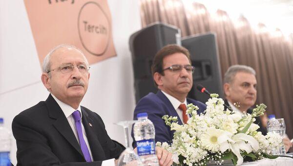 Kemal Kılıçdaroğlu ve CHP Genel Başkan Yardımcıları Çetin Osman Budak ile Öztürk Yılmaz - Sputnik Türkiye