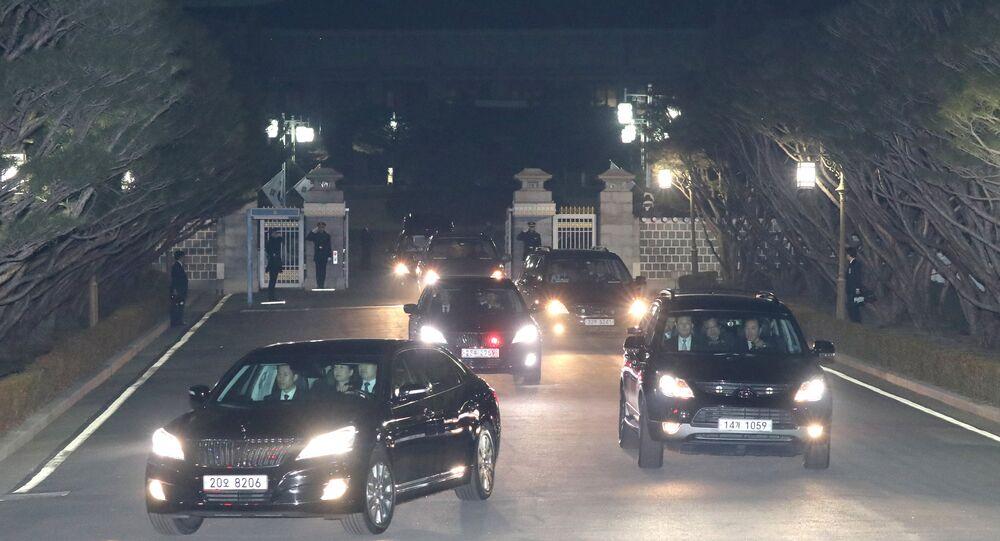 Güney Kore'de Devlet Başkanlığından azledilen Park, Mavi Saray'dan ayrıldı