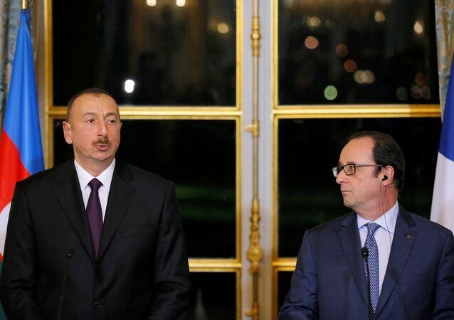 François Hollande -  İlham Aliyev