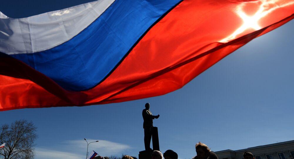 Kırım'ın başkenti Simferepol'deki Lenin Meydanı
