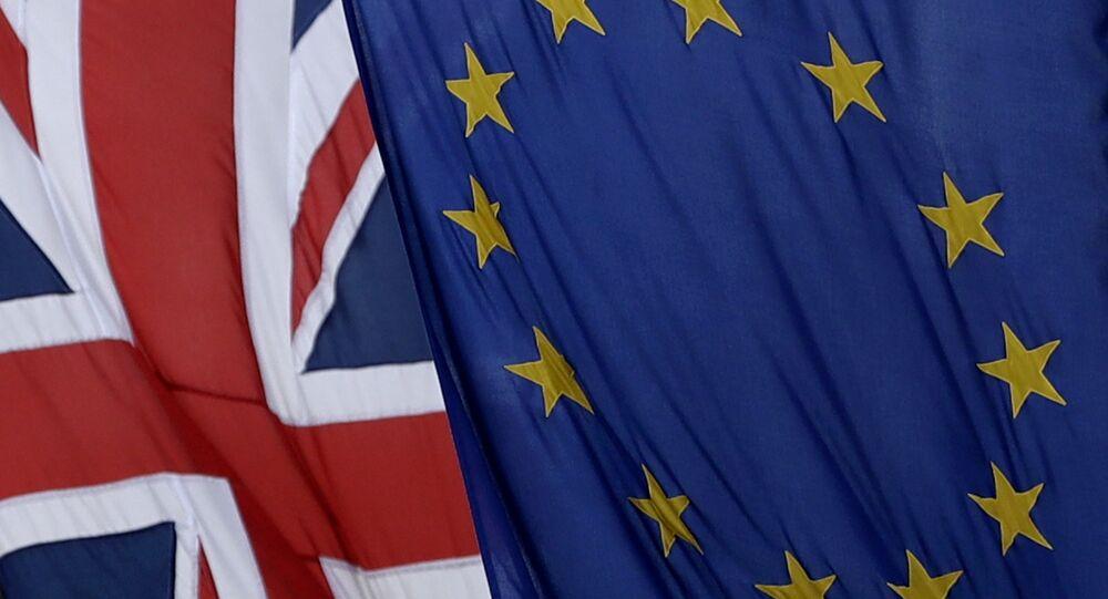 İngiltere ve AB bayrakları