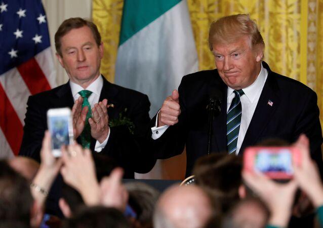 ABD Başkanı Donald Trump ve İrlanda Başbakanı Enda Kenny