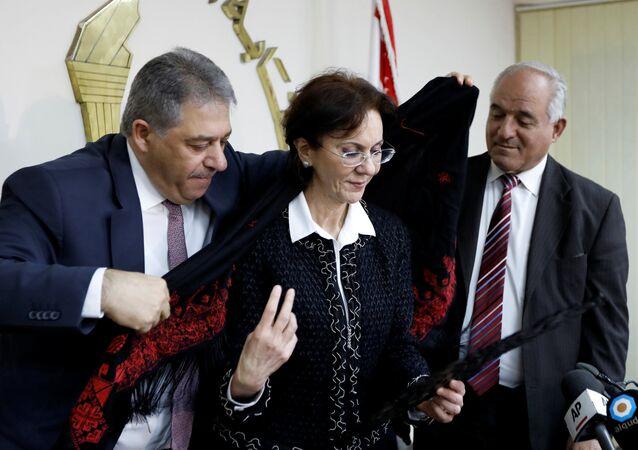 Filistin'in Lübnan Büyükelçisi Eşref Dabbur ve Rima Halef