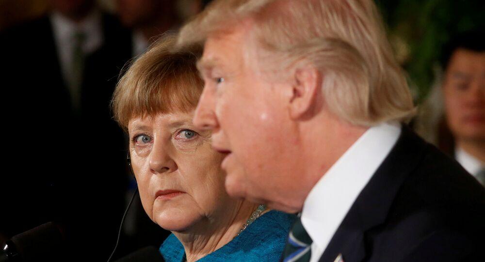 Almanya Başbakanı Merkel ile ABD Başkanı Trump