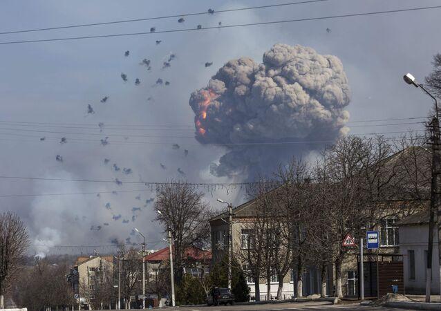 Ukrayna'nın Balakleya kentindeki mühimmat deposu patlaması
