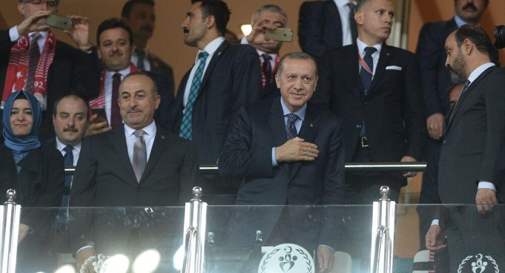 Cumhurbaşkanı Recep Tayyip Erdoğan, karşılaşmayı Dışişleri Bakanı Mevlüt Çavuşoğlu, Aile ve Sosyal Politikalar Bakanı Fatma Betül Sayan Kaya ile birlikte izledi.