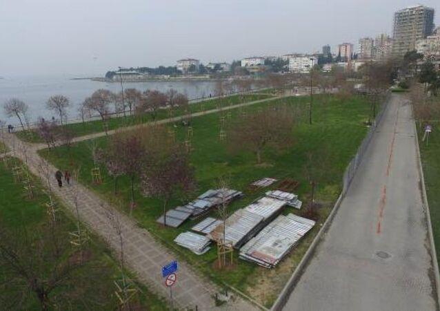 Fenerbahçe sahilinde projenin yapılacağı alan