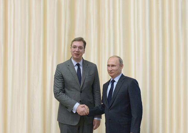 Sırbistan Başbakanı Aleksandr Vuçiç ve Rusya Devlet Başkanı Vladimir Putin