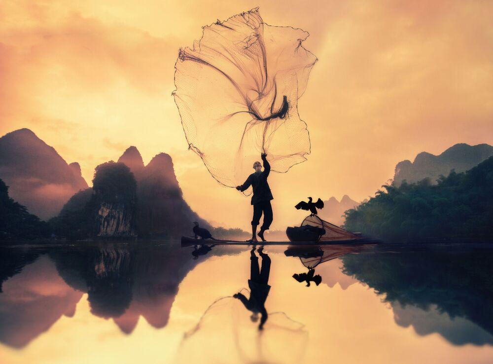 Suudi Arabistanlı fotoğrafçı Khalid Alsabat'ın 'Balıkçı' adlı çalışması