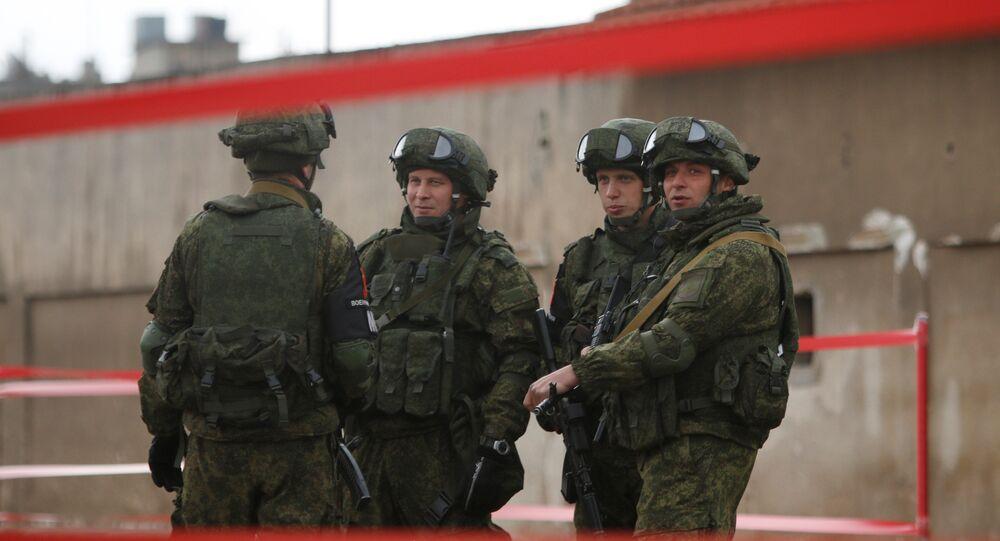 Suriye'de görev yapan Rus askerleri