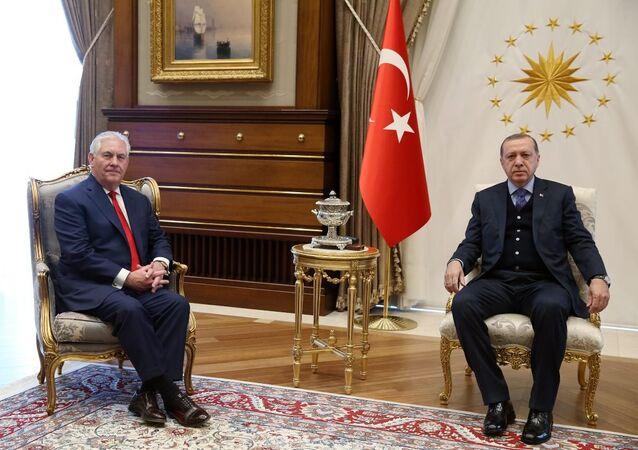 Cumhurbaşkanı Recep Tayyip Erdoğan- ABD Dışişleri Bakanı Rex Tillerson