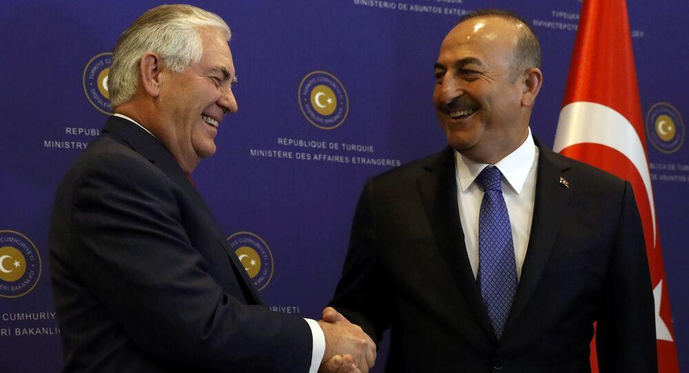 ABD Dışişleri Bakanı Rex Tillerson - Dışişleri Bakanı Mevlüt Çavuşoğlu