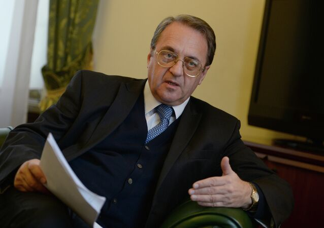 Russian Deputy Foreign Minister and Special Presidential Representative for the Middle East Mikhail Bogdanov. (File)