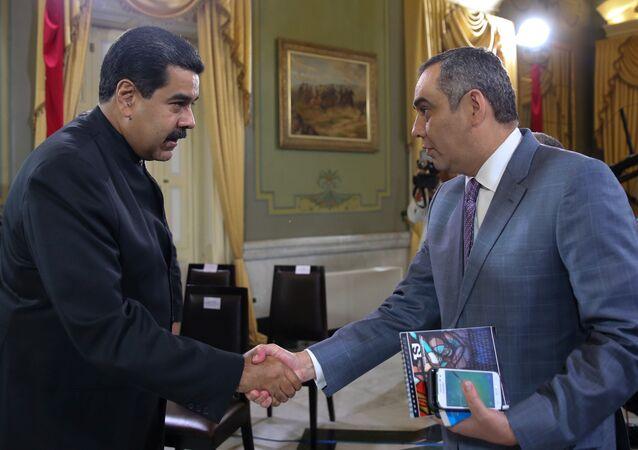 Venezüella Devlet Başkanı Nicolas Maduro ve Yüksek Mahkeme Başkanı Maikel Moreno