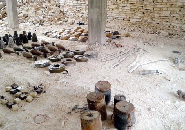 TSK'nın El Bab'ta ele geçirdiği patlayıcılar
