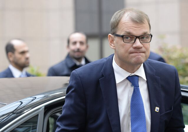 Finland's Prime minister Juha Sipila arrives for an European Union leaders summit on October 20, 2016 at the European Council, in Brussels