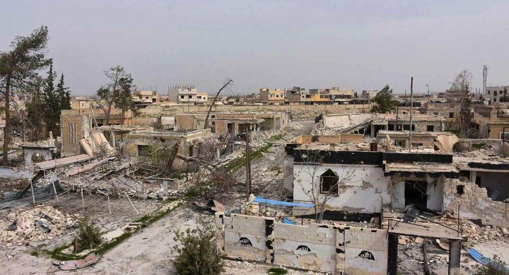 IŞİD'den alınan  Halep'teki Deyr Hafir beldesi