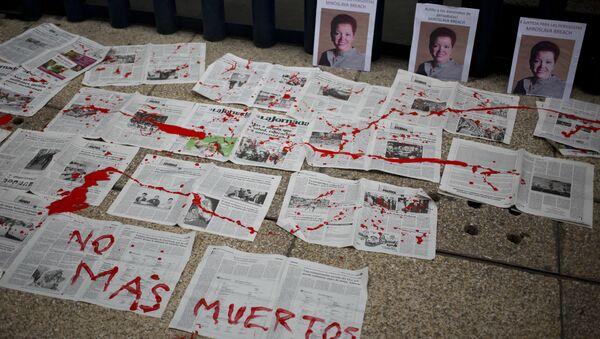 Meksika'da br ay içinde 3 gazeteci öldürüldü - Sputnik Türkiye