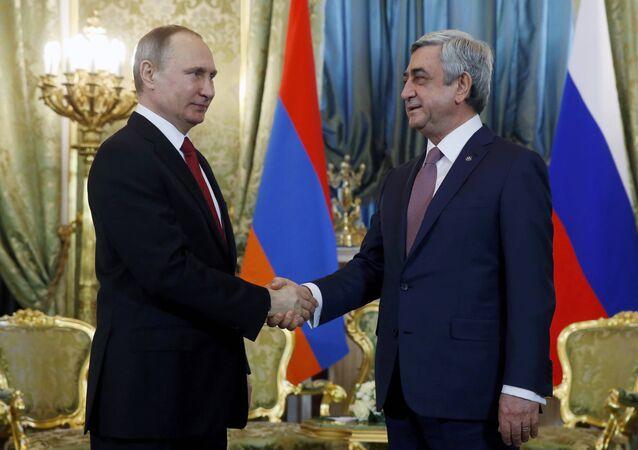 Rusya Devlet Başkanı Vladimir Putin- Ermenistan Devlet Başkanı Serj Sarkisyan