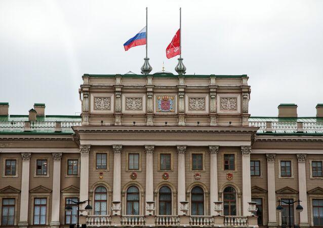 St. Petersburg saldırısının ardından Rusya'da bayraklar yarıya indirildi.