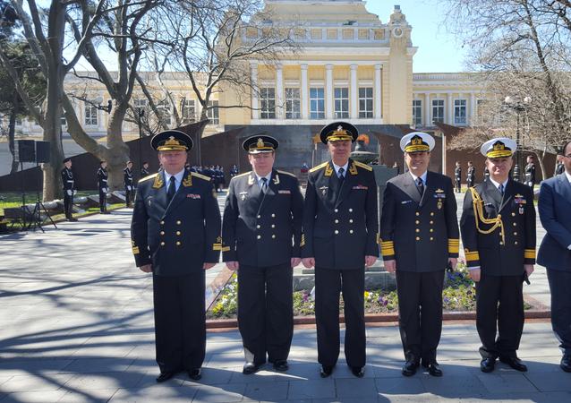 Türk savaş gemileri Rusya'nın Novorossiysk Limanı ziyaret etti
