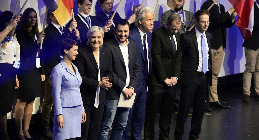 Frauke Petry - Marine Le Pen - Matteo Salvini - Geert Wilders
