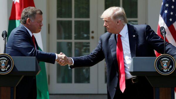 Ürdün Kralı Abdullah - ABD Başkanı Donald Trump - Sputnik Türkiye