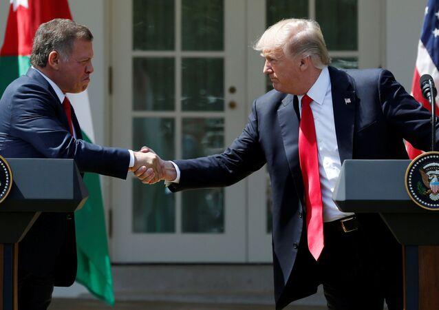 Ürdün Kralı Abdullah - ABD Başkanı Donald Trump
