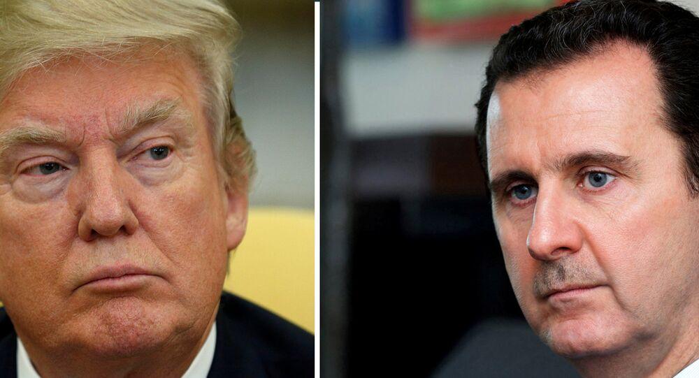 ABD Başkanı Donald Trump- Suriye Devlet Başkanı Beşar Esad