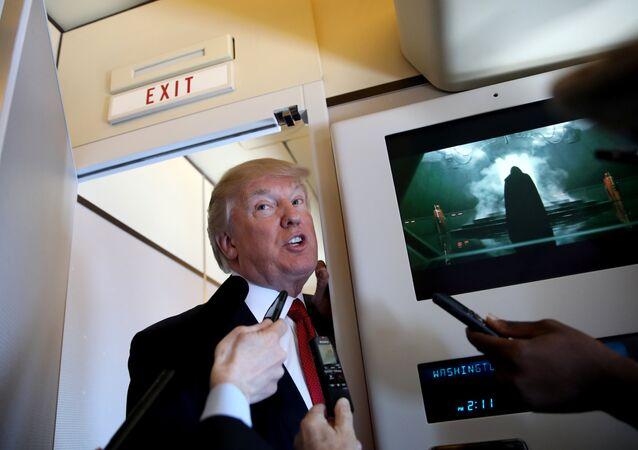 Trump, Şi'yle görüşeceği Palm Beach'e giderken Air Force One'daki gazetecilere açıklama yaptı