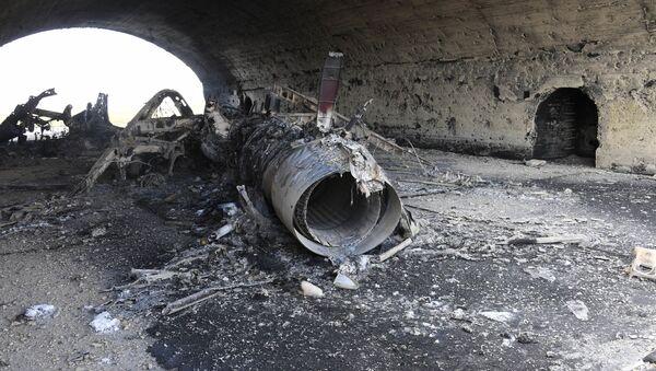 Suriye'deki Şayrat hava üssünden özel görseller. - Sputnik Türkiye