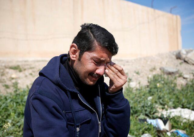Musul'daki çatışmalardan kaçmayı başaran Iraklı bir sivil
