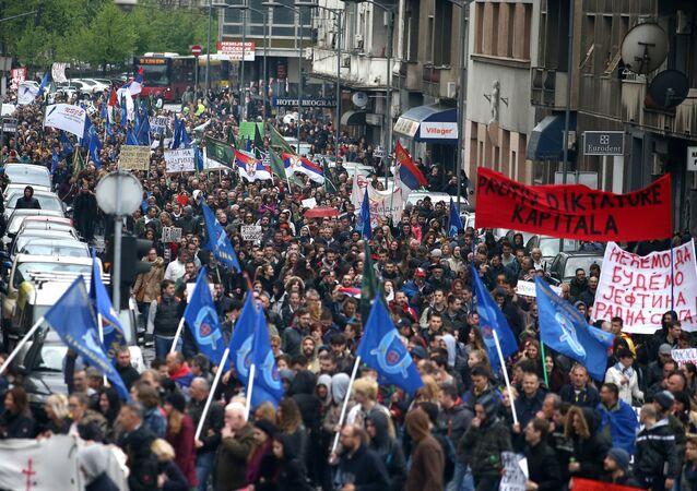 Sırbistan'da Aleksandr Vuçiç karşıtı protesto