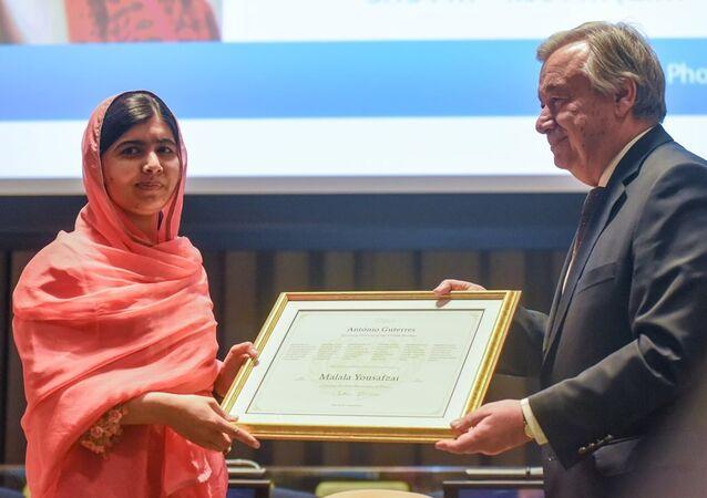 Nobel Barış Ödülü sahibi Malala Yusufzay - BM Genel Sekreteri Antonio Guterres
