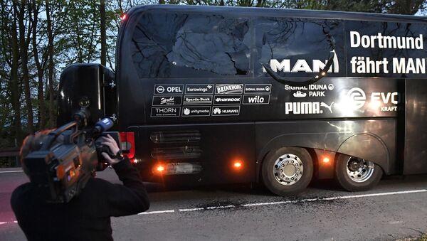 Saldırıda hasar gören Dortmund takımı otobüsü - Sputnik Türkiye