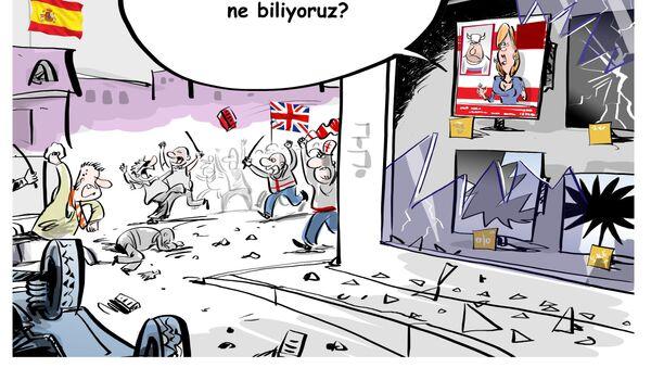 İngiliz taraftarlar Madrid'i savaş alanına çevirdi - Sputnik Türkiye
