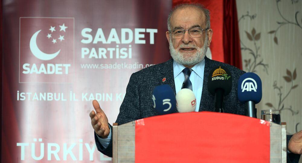 Saadet Partisi Genel Başkanı Temel karamollaoğlu